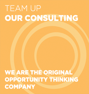 Team Up: Our Consulting. We are the Original Idea Thinking Company.